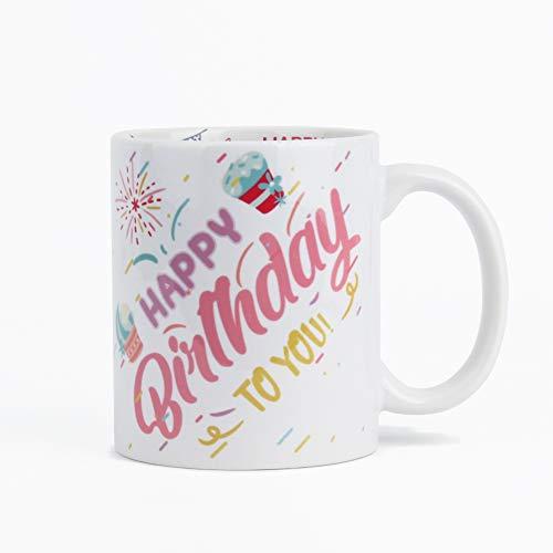 G-LEAF 11oz Happy Birthday Ceramic Mug Coffee Mug - Happy Birthday to You