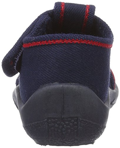 Fischer Mini - Zapatillas de casa Bebé-Niñas azul (Marine)