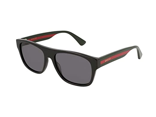 Amazon.com: Gucci gg0341s 001 negro gg0341s del rectángulo ...