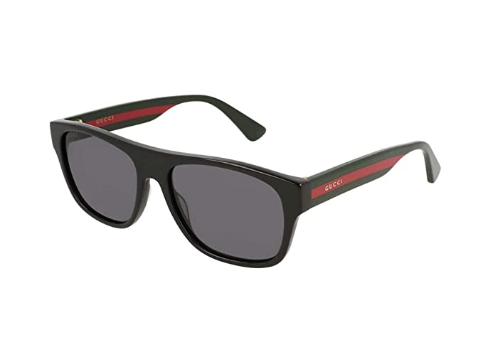 Gucci Gafas de Sol GG0341S BLACK/GREY hombre: Amazon.es ...