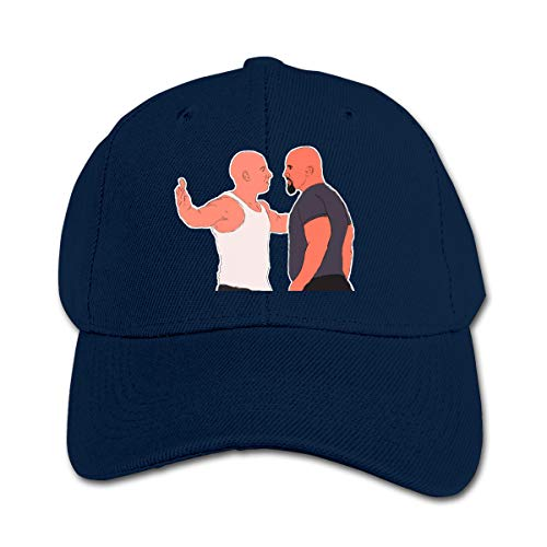 Wufive Who is Faster and More Furious Dwayne The Rock Johnson Or Vin Diesel Cute Kids Unisex Hats One Size Navy