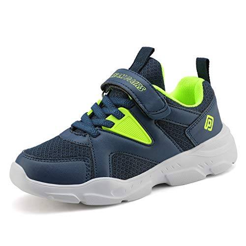 DREAM PAIRS Boys ZP19002K Running Shoes Sports Sneakers Navy Neon Green Size 9 M US Toddler (Best Shoes For Gym Classes)