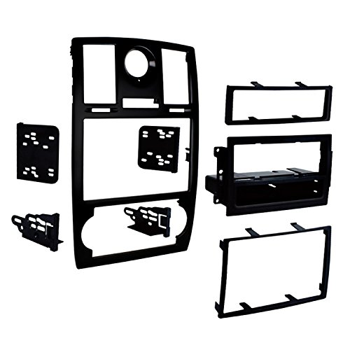Metra 99-6516B Single/Double DIN Mounting Kit with OEM Bezel for 2005-07 Chrysler 300 Vehicles ()