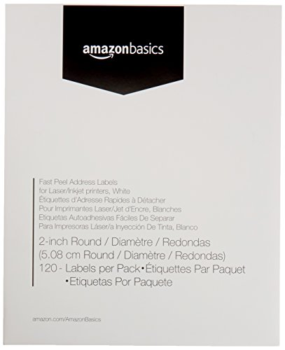 AmazonBasics Fast Peel Address Labels for Laser/Inkjet Printers, White, 2