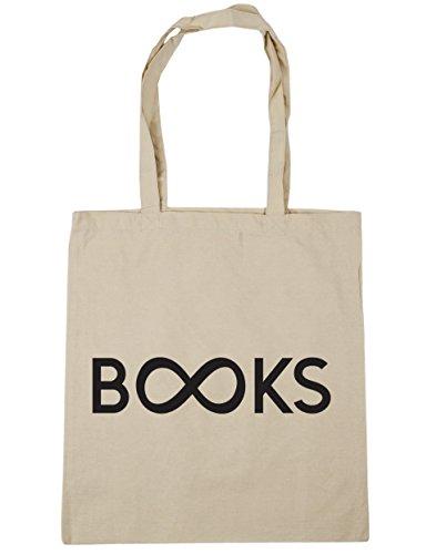 10 books HippoWarehouse Tote Bag Natural litres Beach Shopping infinite x38cm Gym 42cm ZwBxwHzq