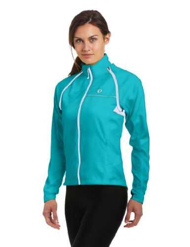Pearl Izumi Womens Vest - Pearl Izumi Women's Elite Barrier Convertible Cycling Jacket, Scuba Blue, Large