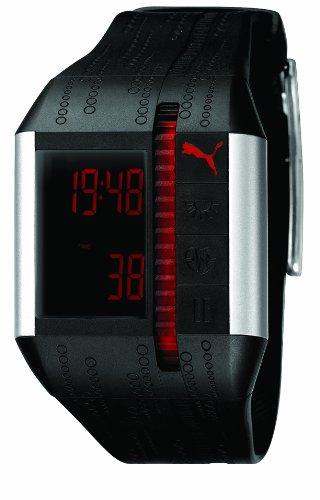 Puma A.PU910501001 - Reloj digital de caballero de cuarzo con correa de resina negra
