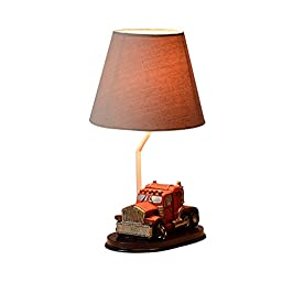 Ornerx Resin Truck Table Lamps for Kids Bedroom