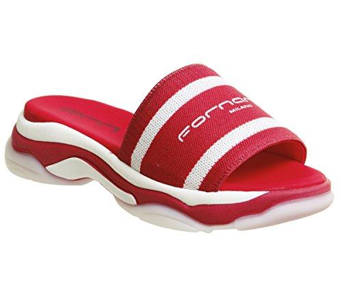 Fornarina Super 10 Slides Red
