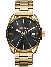 Men's 'MS9' Quartz Stainless Steel Casual Watch, Color:Gold-Toned (Model: DZ1865)