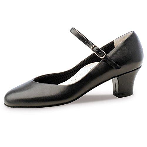 Werner Kern–Zapatos de baile para mujer Gina 4,5piel negro