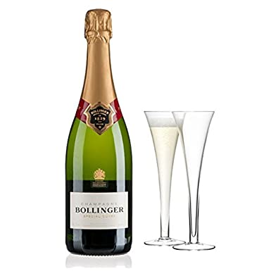 Gifts2Drink Bollinger Champagne Wedding Gift Set with Handcrafted Gifts2Drink Tag Pinot Noir NV 75 cl: Amazon.co.uk: Grocery