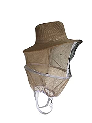 Mr. Garden Beekeeping Veil with Square Hat, Woven Straw Hat, Thickening and Encryption Veil, Wheat Hat and Black Veil