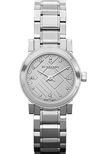 Burberry Swiss Analog Quartz Silver Stainless Steel Womens Diamond Womens Watch BU9213