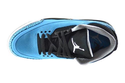 Air Jordan 3 Retro Basketbalschoenen Heren Donker Poeder Blauw / Wit-zwart-wolf Grijs 136064-406 Donker Poeder Blauw / Wit-zwart-wolf Grijs