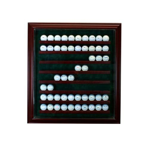 Perfect Cases PC-80GLFCB-C 80 Golf Ball Cabinet Style Display Case, (Golf Memorabilia Shadow Box)