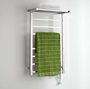 FANGYAO Pared de Acero Inoxidable eléctrico Calentador de Toallas de riel/radiador de baño/Calentador de Toallas 9021: Amazon.es: Hogar