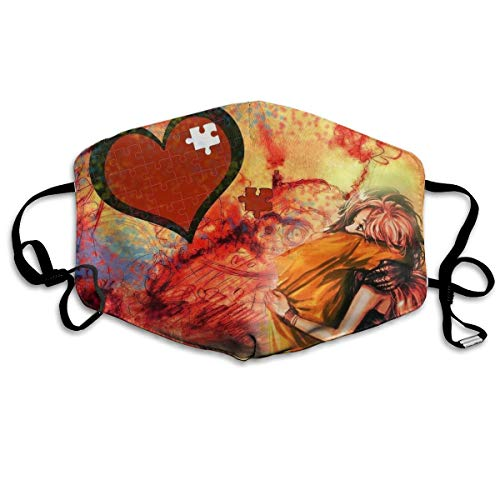 Couple Hug of Love Anti-Dust Earloop Mouth Mask for Women Men, Anti Flu Pollen Germs Skate Climbing Half Face Mouth Mask - Hypoallergenic Mouth-Muffle]()