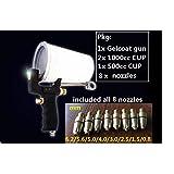 (3 Days Arrived) 0NE Set Professional Grade Cup Gun, Sprays Gelcoat or Resin Resin Fiberglass Laminating Roller Project kit for Composite Fiberglass Tool Fiberglass Roller