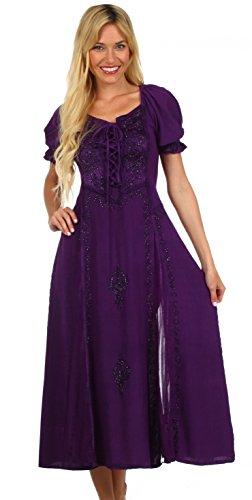 Sakkas Renaissance Sakkas Bridget Dress Viola Bridget CWSR1wzdq1