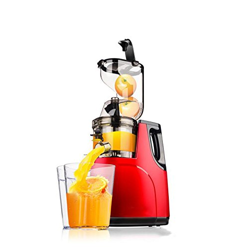 LDFN Juicer Large-diameter Juicer Home Multi-function Automatic Fruit And Vegetable Fresh-pressed Slow-bodied Juice Machine,Red