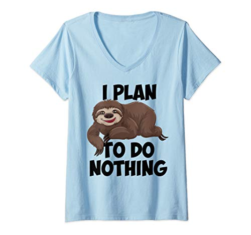 Womens SLOTH LAZY DAY - I PLAN TO