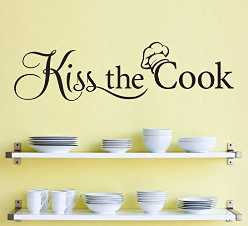 12 Shanghai Kiss - Richstar17 Kiss The Cook Decal - Kitchen Decor - Chef Wall Decal (12''x3.2'')