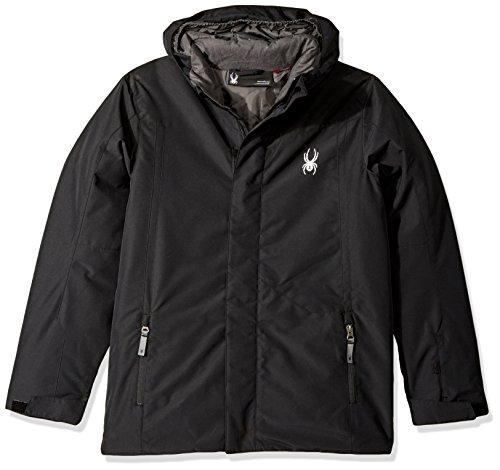 Spyder Boy's Flyte Jacket, Black/Black, Small Spyder Boys Jacket