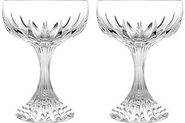 Baccarat Crystal Massena Champagne Coupe - Clear - Set of 2 by Baccarat Crystal