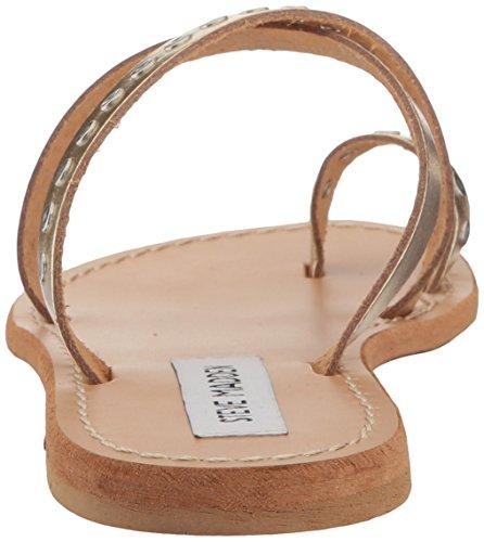 Steve Madden Women's Becky Toe Ring Sandal Gold Leather j6ytw72Hor