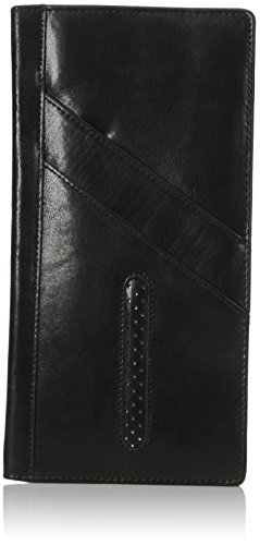 Dopp Men's Alpha RFID Blocking Passport Travel Wallet, Black, One Size