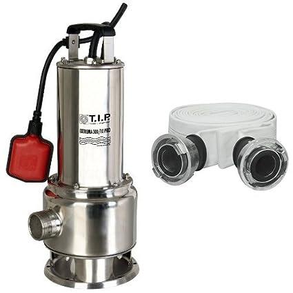 T.I.P. 30072 Schmutzwasser Tauchpumpe Edelstahl Extrema 300/10 Pro mit Edelstahllaufrad, bis 19.500 l/h Fö rdermenge