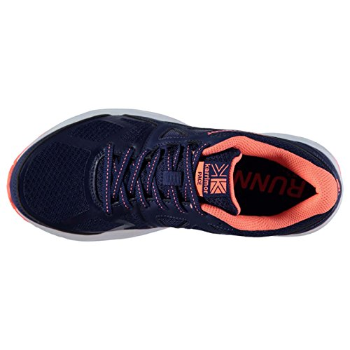 Collar Up Ankle Womens Karrimor Breathable Lace Pace Navy Coral Mesh Trainers Shoes Padded SvBwqxUX