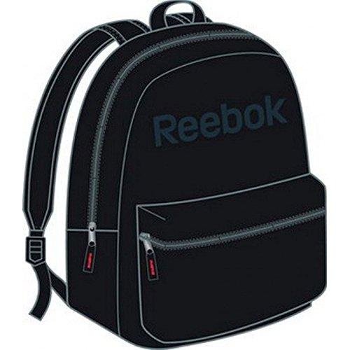 Reebok LE Backpack. Rucksack. Geräumiges Haupt- und Frontfach mit Reißverschluß. Robustes Material. Verstellbarer, gepolsterter Trageriemen. 38x26x12cm