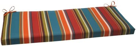 Pillow Perfect Indoor Outdoor Westport Bench Cushion,Multi-colored,45 x 18
