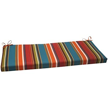 Amazon.com: Pillow Perfect Indoor/Outdoor Annie Bench Cushion ...