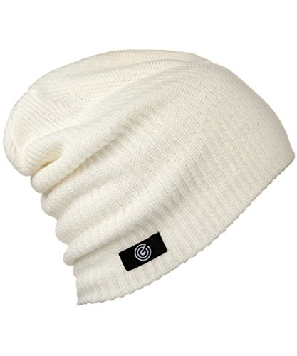 Revony Evony Lightweight Casual Beanie - Warm, Soft Beanie Hat - White