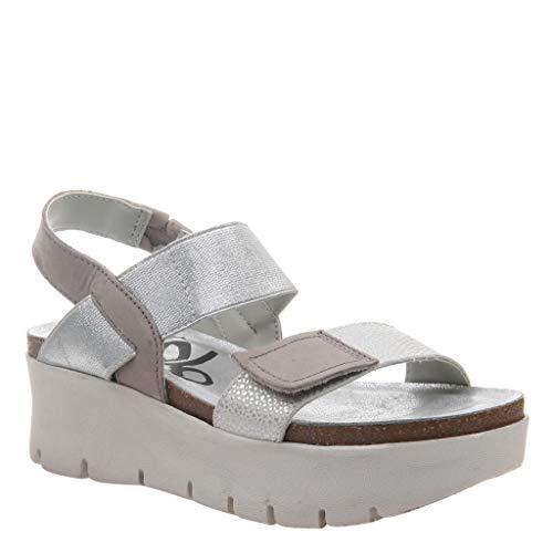 OTBT Women's Nova Wedge Sandals - New Silver - 6.5 M US (Fabric Footwear Silver)