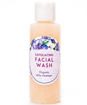 Organic Exfoliating Facial Wash with Salicylic Acid by Queen Bee Organic Skin Care