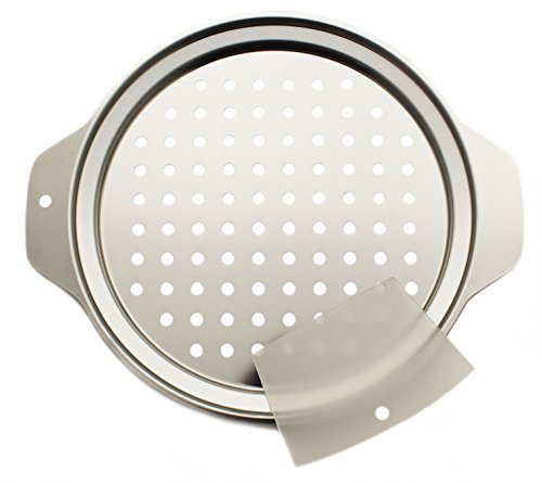 Zoie + Chloe Stainless Steel Spaetzle Maker Lid with Scraper (Steel Pasta Maker Stainless)