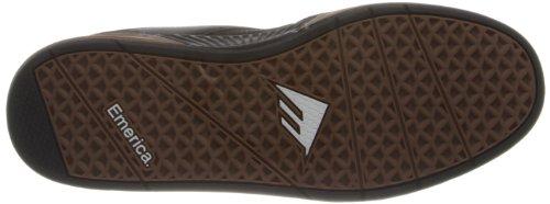 Emerica THE HERITIC - Zapatillas de cuero hombre Black/gum