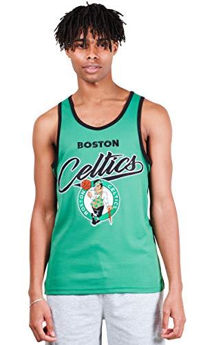 Ultra Game NBA Boston Celtics Men's Jersey Tank Top Mesh Sleeveless Muscle , Kelly Green, Medium
