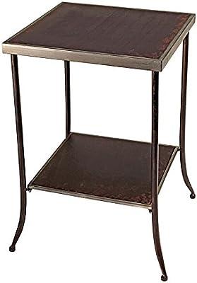 Madison Collection Bauhaus Tapered Leg Metal Side Table