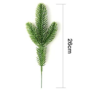 Nyalex 10Pcs Artificial Flower Fake Green Plants Pine Branches Christmas Tree For Christmas Party Decorations Xmas Tree Ornaments 1
