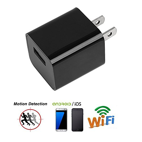 Wifi Spy Camera Charger Adapter, Anysecu HD 1080P USB Wall