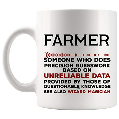 Funny Farmer Mug Gift - 11Oz Coffee Cup - Best Gifts for Men Women T-Shirt Cups Mugs from WingToday
