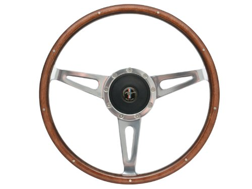 1967 1968 1969 1970 1971 1972 1973 Ford Mustang Shelby Style Steering Wheel, Hub Adapter and Horn Button with Ford Mustang (Ford Mustang Horn)