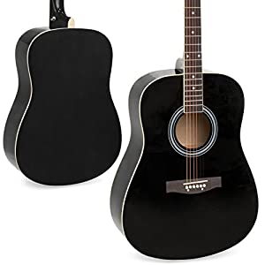 Best Choice Products 41in Full Size All-Wood Acoustic Guitar Starter Kit w/Nylon Case, Pick, Shoulder Strap, Extra Steel Strings - Black by Best Choice Products