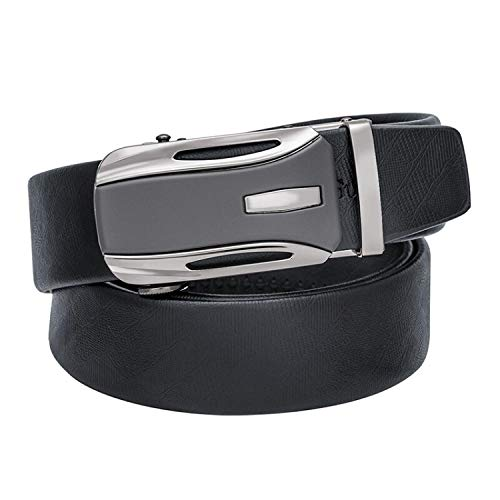 Adesigner Automatic Black Buckle Leather Belts for Real Leather Mens Belt Cinturon Ea-002,As Show,150Cm ()
