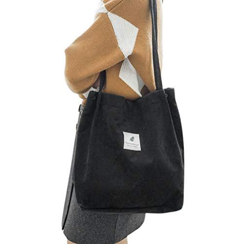 Bags Shoulder Handbag Corduroy Gjyia Tote Nero Casual Women Bag Purse Shopping aq6Iwan7x